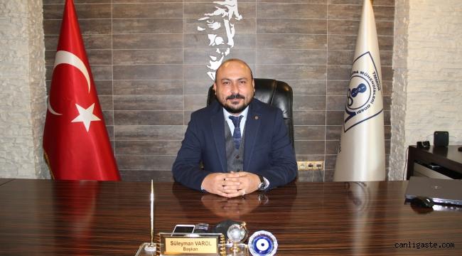 MMO Başkanı Varol' dan çalışan gazeteciler günü mesajı