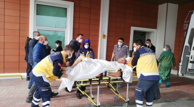 Samsun'da elektrik akımına kapılan 2 işçi yaralandı