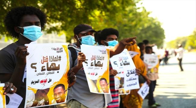 Sudan'da Hızlı Destek Kuvvetleri'nin karargahlarının kapatılması talebiyle gösteri düzenlendi