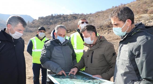 Talas Belediye Başkanı Yalçın'dan Zincidere Göleti Mesire Alanına inceleme