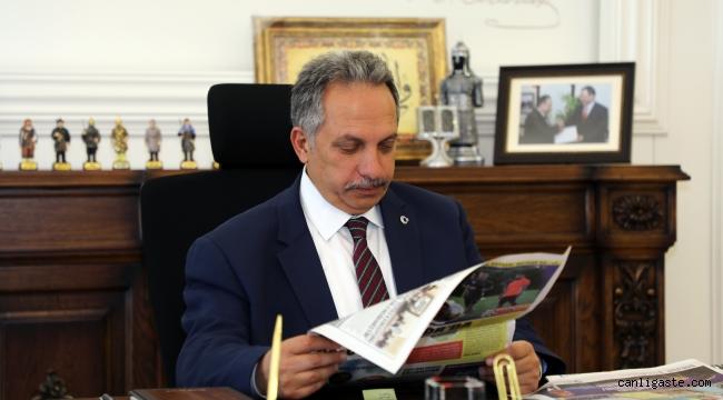 """Talas Belediye Başkanı Yalçın: """"Gazetecilik zor ve sorumluluğu büyük bir meslek"""""""