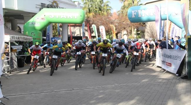 Alanya'da düzenlenen 2021 Uluslararası Dağ Bisikleti Yarışları'nda heyecan sürüyor