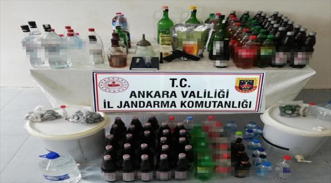 Ankara'da sahte alkollü içecek satan bir kişi yakalandı