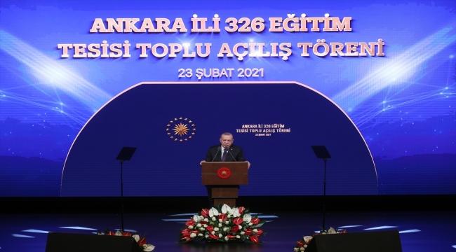 Cumhurbaşkanı Erdoğan Ankara Valiliği Eğitim Tesisleri Toplu Açılış Töreni'nde konuştu: (3)