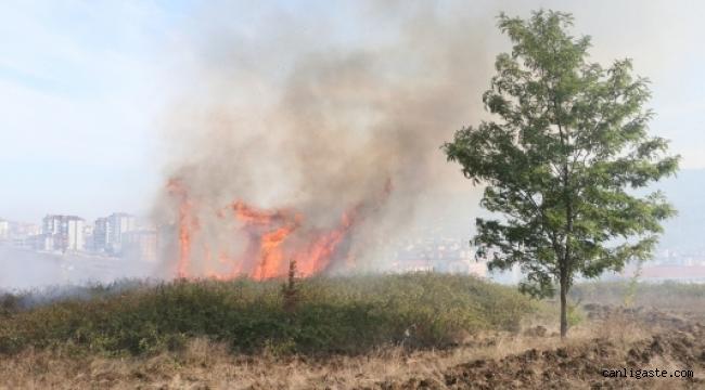 Kayseri Olay: Eskişehir Bağlarında çıkan yangın söndürüldü (VİDEOLU HABER)