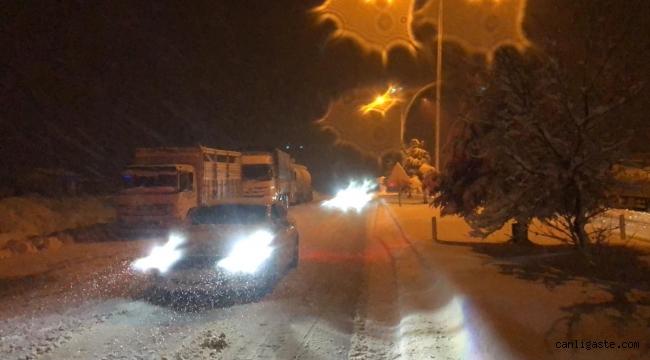 Kar nedeniyle kapanan Konya-Antalya kara yolu ulaşıma açıldı