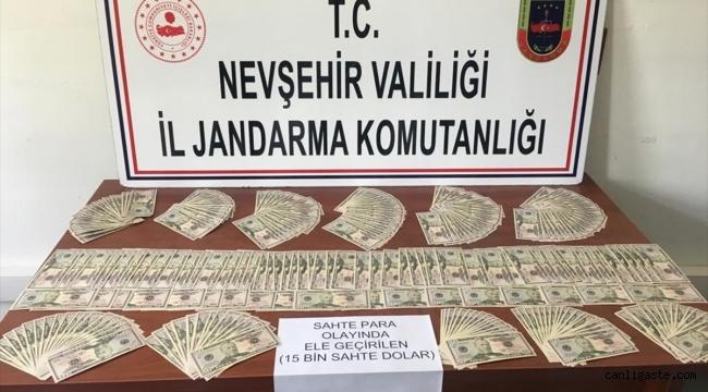 Nevşehir'deki 299 adet sahte 50 dolarlık banknot yakalandı