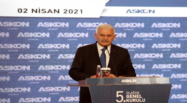 AK Parti Genel Başkanvekili Yıldırım, ASKON İzmir Şubesinin Olağan Genel Kurulu'nda konuştu:
