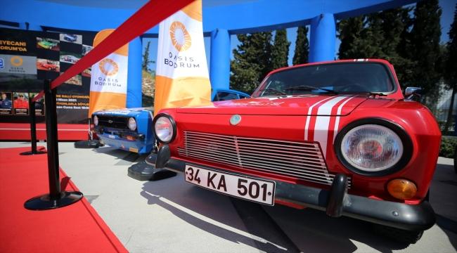 Bodrum'da şampiyon pilotların yarışacağı Ralli Bodrum öncesi araçlar sergileniyor
