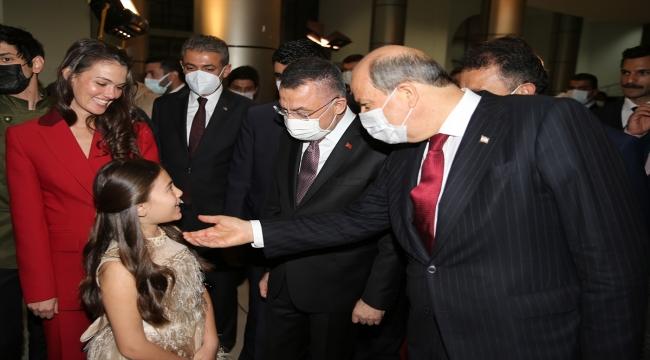 """Cumhurbaşkanı Yardımcısı Oktay, KKTC'de """"Bir Zamanlar Kıbrıs"""" dizisinin galasına katıldı"""