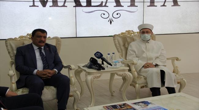 Diyanet İşleri Başkanı Erbaş, Malatya Büyükşehir Belediye Başkanı Gürkan'ı ziyaret etti: