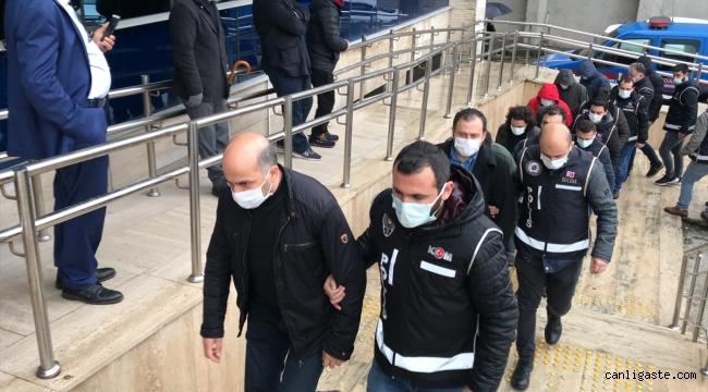 FETÖ/PDY operasyonunda gözaltına alınan 15 şüpheli adliyede