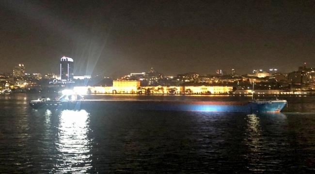 GÜNCELLEME - Yük gemisi İstanbul Boğazı'nda makine arızası yaptı