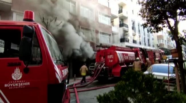 Güngören'de depo yangını: Söndürme çalışmaları sürüyor