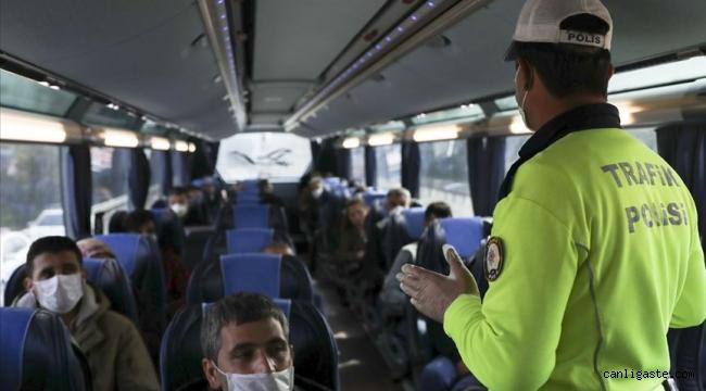 HES kodu riskli olan otobüsteki yolcu karantinaya alındı