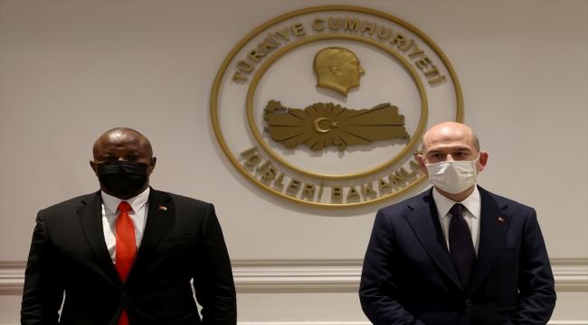 İçişleri Bakanı Soylu, Gine-Bissaulu mevkidaşı ile görüştü