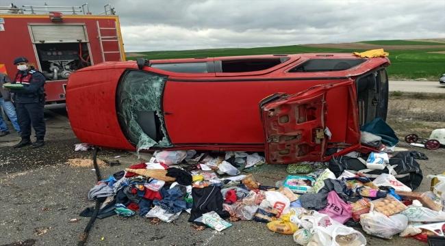 Kırıkkale'de otomobil devrildi: 7 yaralı