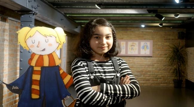 """Minik ressamın """"Büyük Gün"""" adlı sergisi Nevmekan Bağlarbaşı Galeri'de açıldı"""