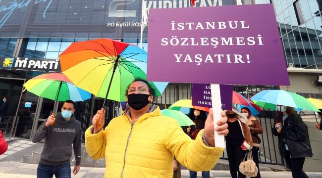 """Pembe Hayat Derneği üyelerinden İYİ Parti'ye """"İstanbul Sözleşmesi"""" teşekkürü"""