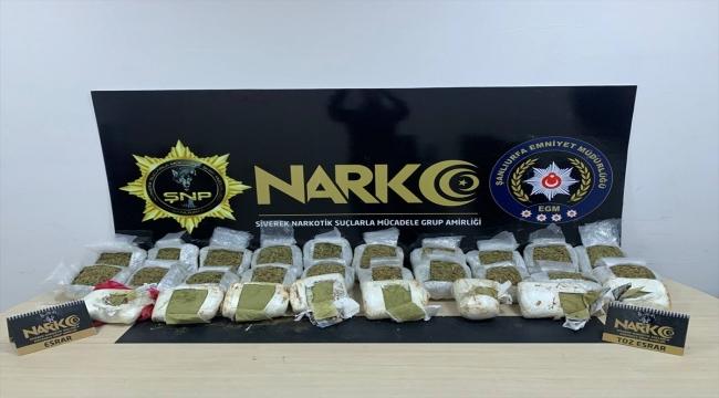 Şanlıurfa'da uyuşturucu operasyonunda yakalanan 10 şüpheli tutuklandı