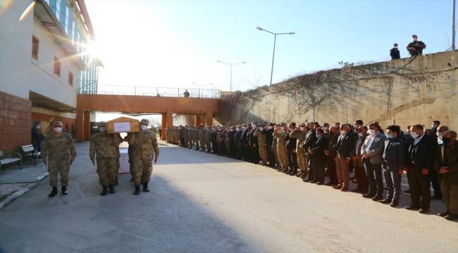Şırnak'ta PKK'lı teröristlerin tuzakladığı patlayıcının infilak etmesi sonucu ölen çoban için tören düzenlendi