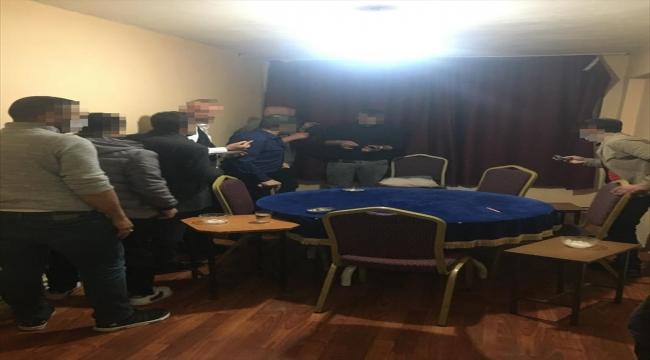 Sivas'ta evde kumar oynayan 9 kişiye 29 bin 943 lira ceza yazıldı