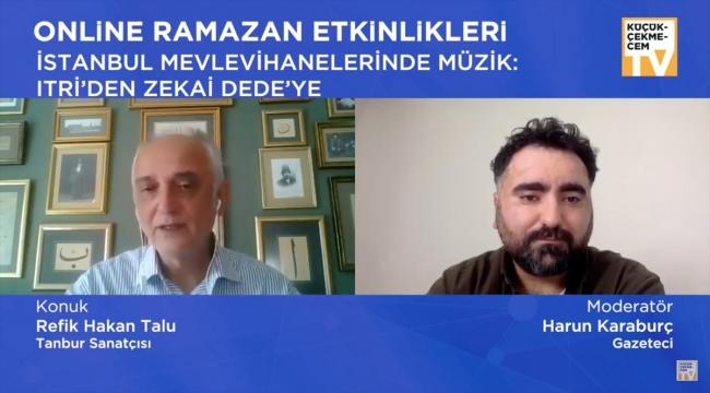 """Tambur sanatçısı Refik Hakan Talu, """"İstanbul Mevlevihanelerinde Müzik"""" başlıklı etkinlikte konuştu:"""