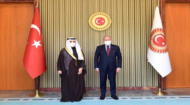 TBMM Başkanı Şentop, Kuveyt Dışişleri ve Devlet Bakanı El-Sabah'ı kabul etti