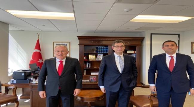 Türkiye'nin Washington Büyükelçisi Mercan, Pfizer'ın CEO'su Bourla ile görüştü