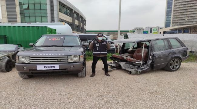 Yurt dışından getirilen araçları parçalayıp Bursa'da kazalı otomobil ve arazi taşıtlarıyla birleştirmişler