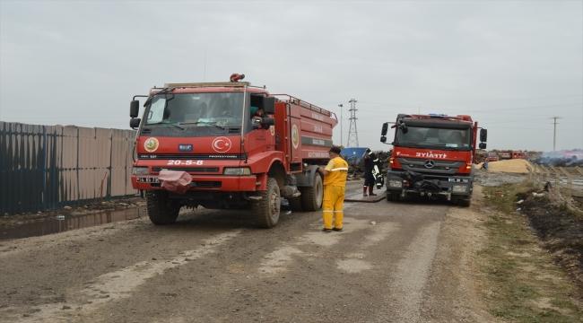 Afyonkarahisar'da biyokütle enerji santralindeki yangın söndürüldü