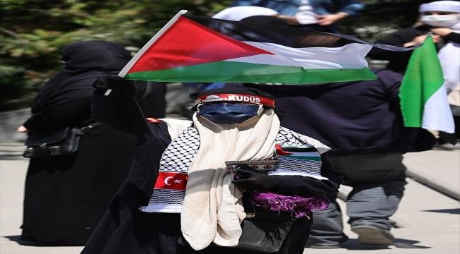 """İsrail'in Filistin'deki saldırılarına karşı başkentte """"beyaz kıyafetli"""" protesto"""