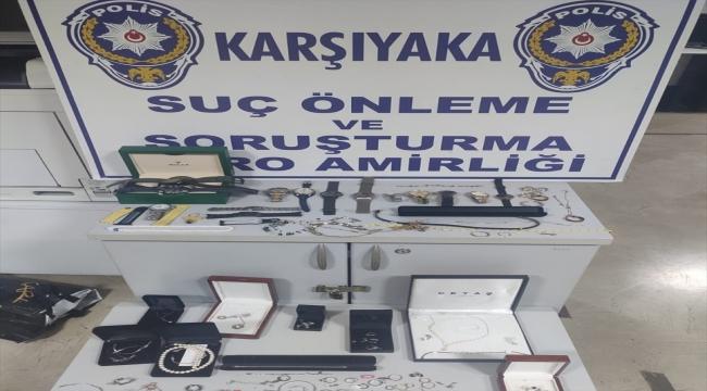 İzmir'de çalıştığı evden ziynet eşyası çaldığı belirlenen hizmetçi ile iki arkadaşı yakalandı