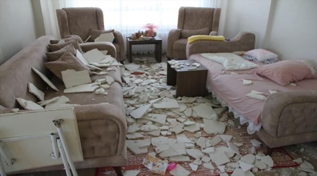 Kayseri Olay: Oturma odasının tavanı düştü: 1 Yaralı