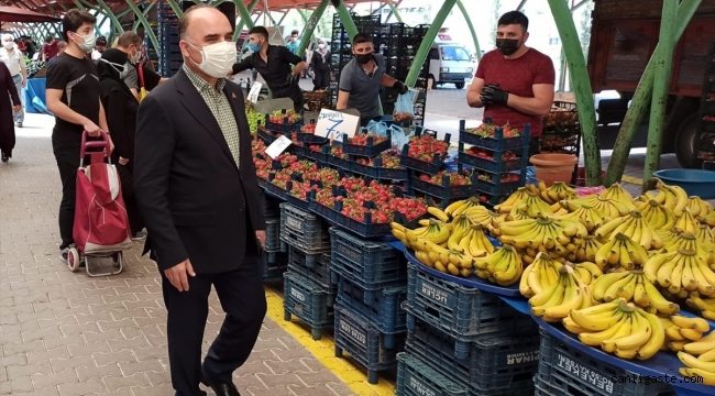 Kayseri Valisi Günaydın pazar yerlerini denetledi