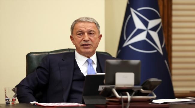 Akar, video konferans yöntemiyle yapılan NATO Savunma Bakanları Toplantısı'na katıldı