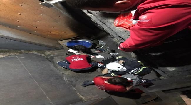 Aksaray'da taş kırma makinesinin içine düşen işçi yaralandı