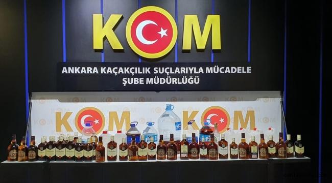 Ankara kaçakçılık operasyonu: 1600 litre sahte alkollü içki ele geçirildi