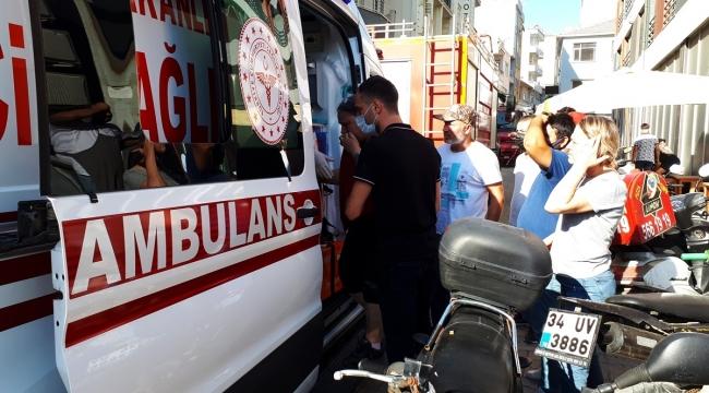 Çanakkale'de bir büfede çıkan yangında 2 kişi yaralandı