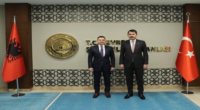 Çevre ve Şehircilik Bakanı Kurum, Arnavutluk Yeniden İnşa Devlet Bakanı Ahmetaj ile görüştü