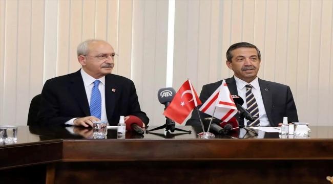 CHP Genel Başkanı Kılıçdaroğlu, KKTC Dışişleri Bakanı Ertuğruloğlu ve siyasi parti liderleriyle görüştü