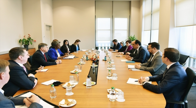 Cumhurbaşkanlığı Sözcüsü Kalın, ABD'nin BM Daimi Temsilcisi Greenfield ile görüştü