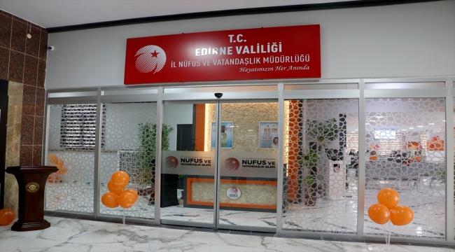 """Edirne'deki nüfus müdürlükleri """"Konsept Nüfus Müdürlüğü"""" projesi kapsamında yenilendi"""