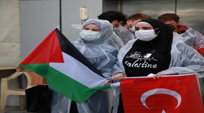 İsrail'in Mescid-i Aksa'ya yönelik ihlalleri Rize'de protesto edildi