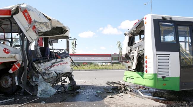 Kayseri'de otobüsler çarpıştı: 7 yaralı