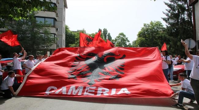 Kuzey Makedonya'da Çamerya katliamının 77'nci yılı nedeniyle yürüyüş düzenlendi
