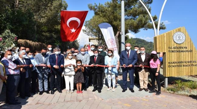 Muğla'da Marmaris İçmeler Halk Plajı hizmete açıldı