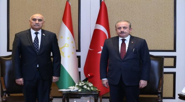 TBMM Başkanı Mustafa Şentop'tan Tacikistan ile iş birliğini artırma vurgusu: