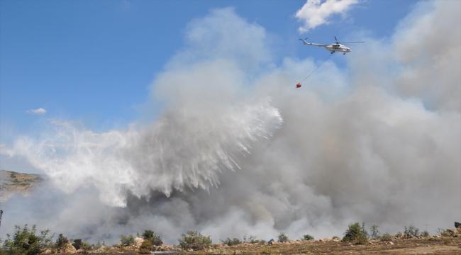 Çanakkale'de makilik alanda etkili olan yangın kontrol altına alındı