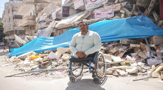 İsrail saldırılarında bacaklarını, evini ve ofisini kaybeden Filistinli gazeteci hayallerinden vazgeçmiyor: